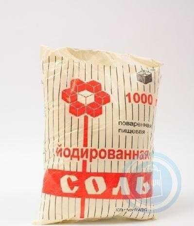 Соль йодированная крупная помол №1 1кг Руссоль