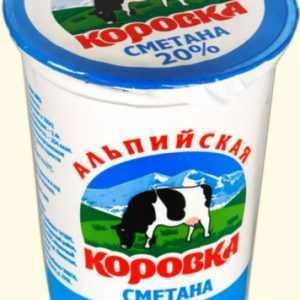Сметанный продукт 20% 500гр Альпийская Коровка