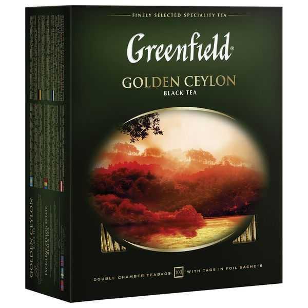 Чай Гринфилд черный Голден цейлон 100пак
