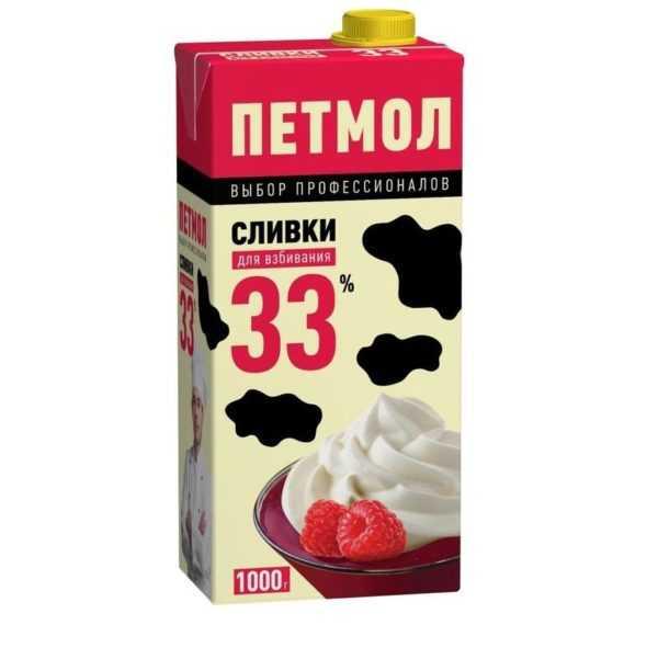 Сливки 33% 1л Петмол