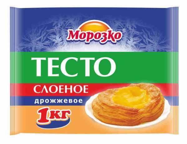 Тесто слоеное дрожжевое Морозко 1кг