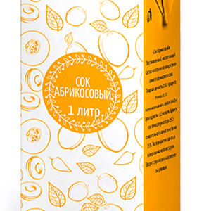 Сок абрикосовый 1л Диас