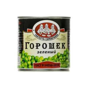 Горошек зеленый консервированный 425 мл Скатерть Самобранка