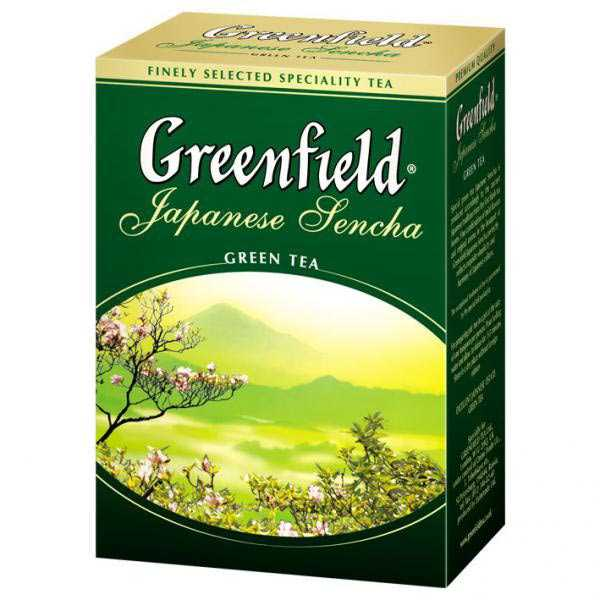 Чай Гринфилд зеленый Джапаниз Сенча 100гр