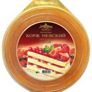 Корж Невский светлый бисквитный 400гр