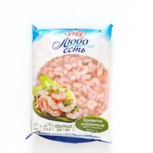 Креветки варено-мороженые очищенные 200/300 1кг VICI