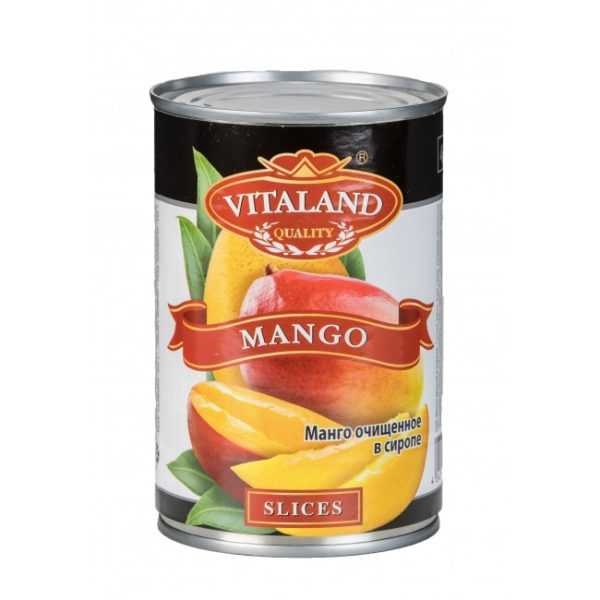Манго консервированный 425гр VITALAND