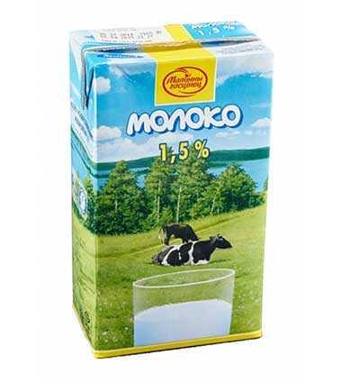 Молоко ультрапастеризованное 1,5% 1л Молочный гостинец