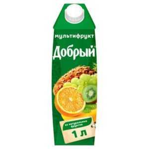 Сок Добрый мультифрукт 1л