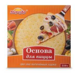 Основа для пиццы 330 гр Морозко