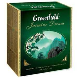Чай Гринфилд зеленый Жасмин Дрим 100пак