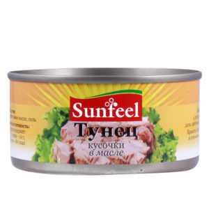 Тунец консервированный в масле 170гр Sunfeel
