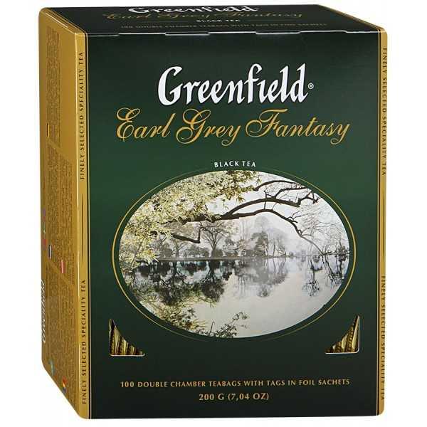 Чай Гринфилд черный Эрл Грей 100пак