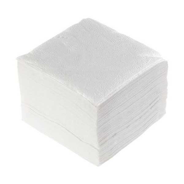 Салфетки бумажные белые однослойные 100шт
