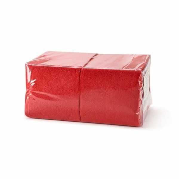 Салфетки красные однослойные 400шт