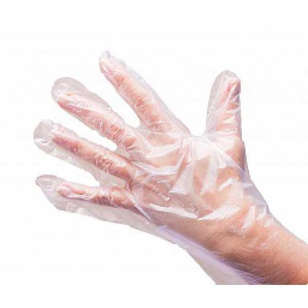 Перчатки одноразовые полиэтилен 100шт