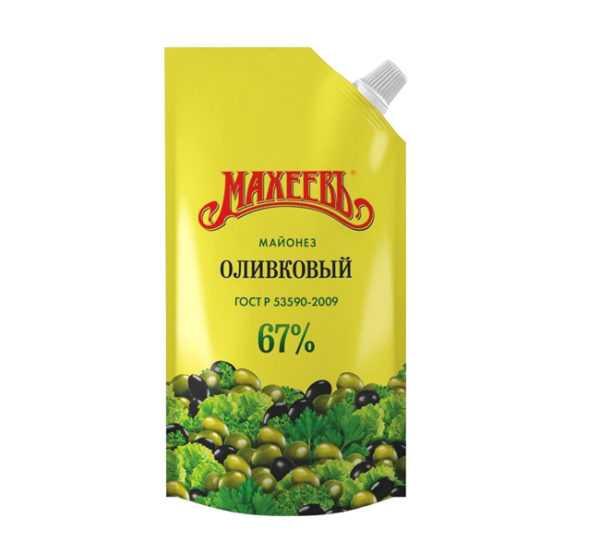 Майонез Махеев оливковый 67% 380гр